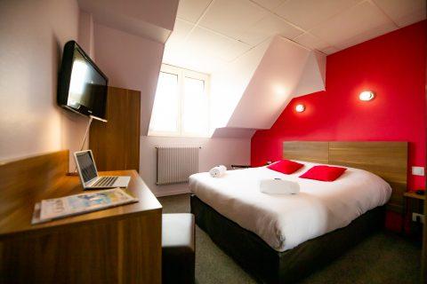 Chambre double avec vue d'ensemble hotel du chateau caen