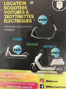 Flyer locations scooters voitures & trottinettes électriques