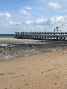 Vue plage de Normandie calvados